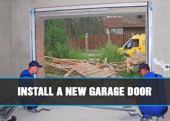 houston tx install new garage door